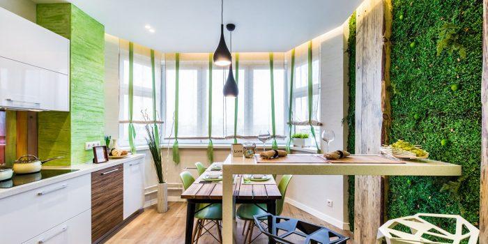 Зеленые идеи интерьера кухни